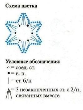 Схема цветка, фото