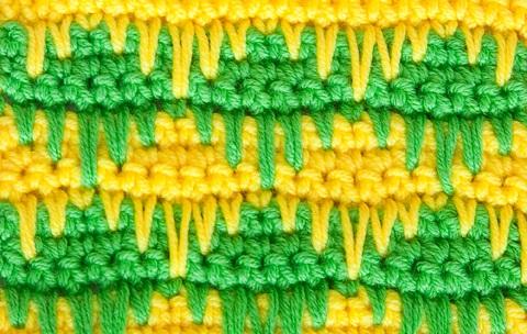 Узор из вытянутых петель, фото