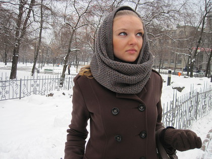 Шапка-шарф труба, фото