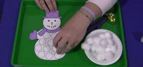 Снеговик из ваты