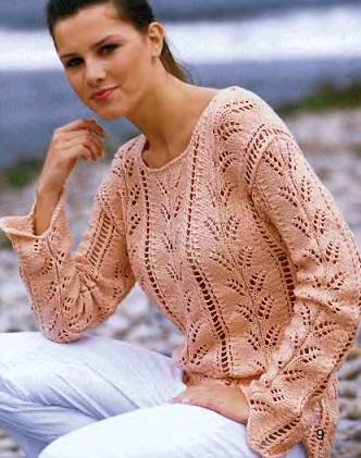 Схема вязания ажурного свитера спицами фото 340