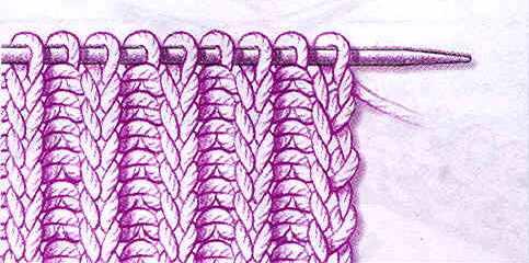 Схема вязания резинка спицами