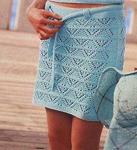 Как связать юбку спицами видео уроки