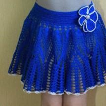 1-245 Вязаная юбка спицами для женщин прямая: пошаговая инструкция