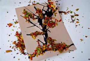 Картина «Осеннее деревце»