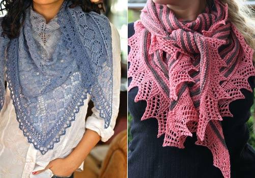 Пошаговое вязание ажурной шали