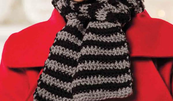 мужские шарфы крючком