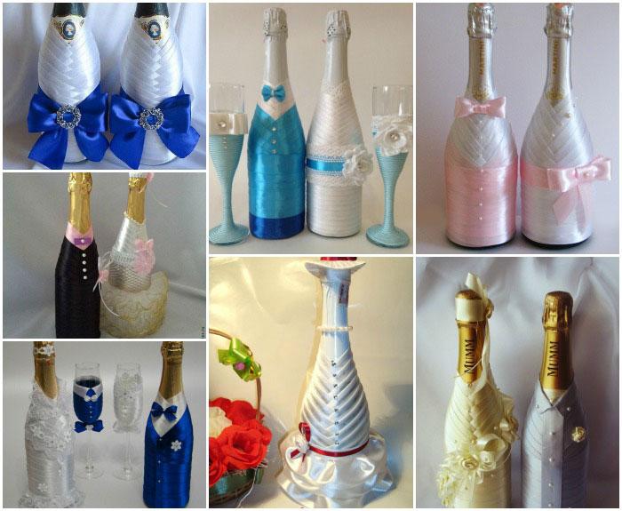 1165 Как украсить бутылку шампанского на Новый год 2019 своими руками