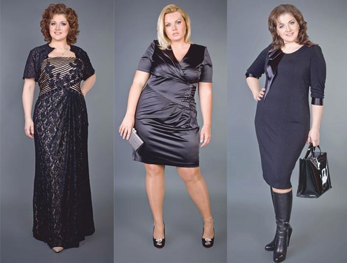 Черные платья для полных женщин с фото примером, фото