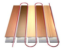 Деревянная технология водяного тёплого пола, фото