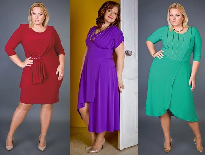 Длинные платья для полных девушек и женщин, фото