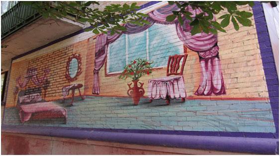 Где можно рисовать граффити на стене, фото