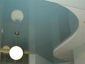История натяжного потолка, фото