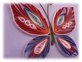 Изготовление квиллинг бабочки, фото