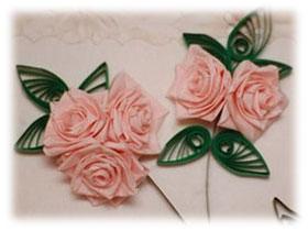Изготовление квиллинг розы, фото