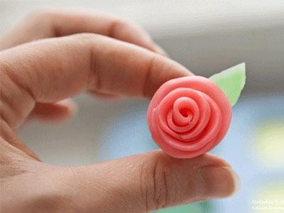 Как лепить розу из пластилина, фото