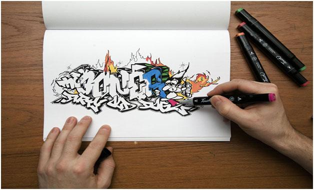 Как научиться рисовать граффити, фото