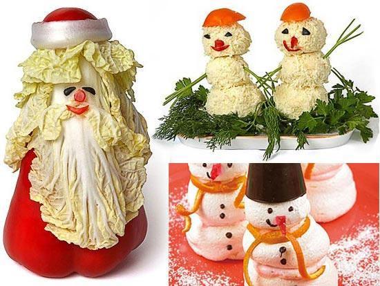Как сделать снеговика из овощей, фото