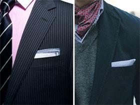 Как сложить платок в пиджак, фото