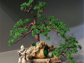Как сплести из бисера дерево, фото