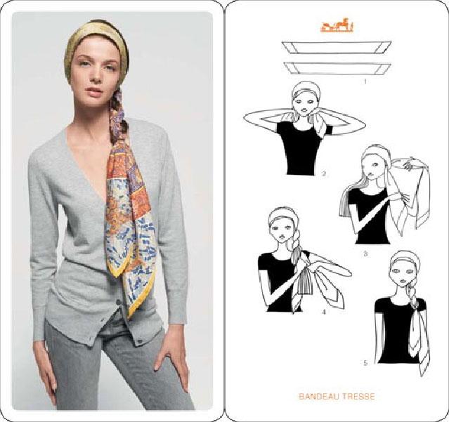 Как завязать платок на голове правильно и красиво, фото