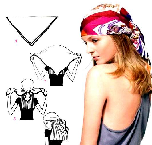 Как завязывать платки на голову классически, фото