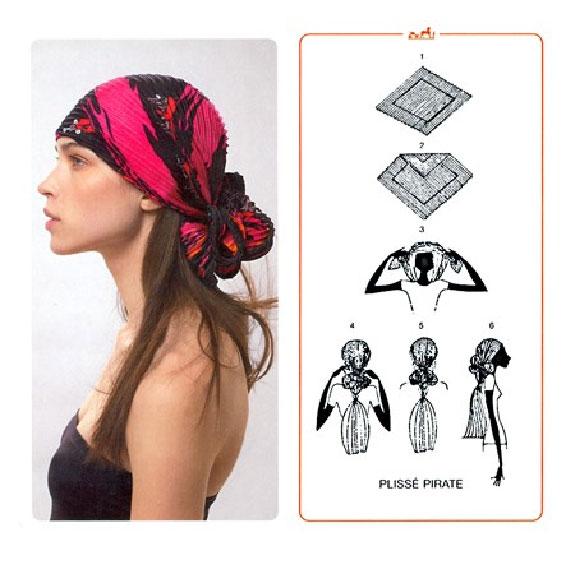 Как завязывать платки на голову универсально, фото