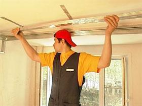 Монтаж потолка из гипсокартона, фото