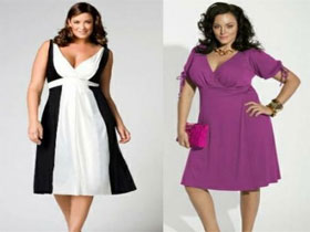 Платье для полных девушек, фото