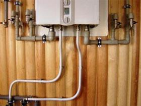 Подключение к котлу контура отопления, фото