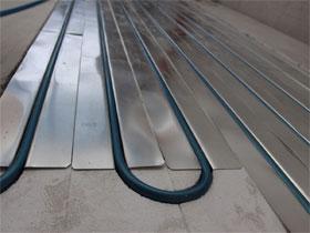 Полистирольная технология водяного тёплого пола, фото
