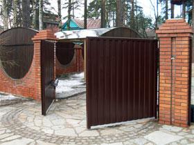 Распашные ворота, фото