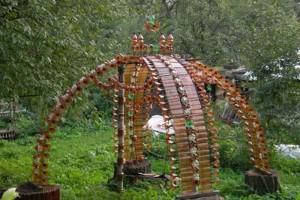 Садовые поделки из пластиковых бутылок, фото