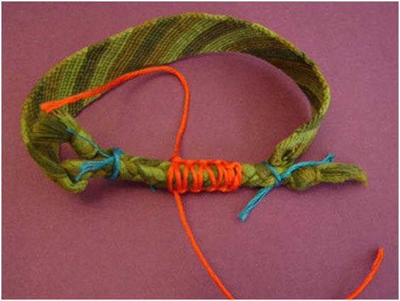 Схема плетения ниток мулине 1, фото