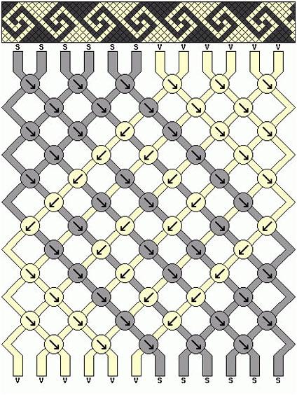 Схема плетения ниток мулине 13, фото