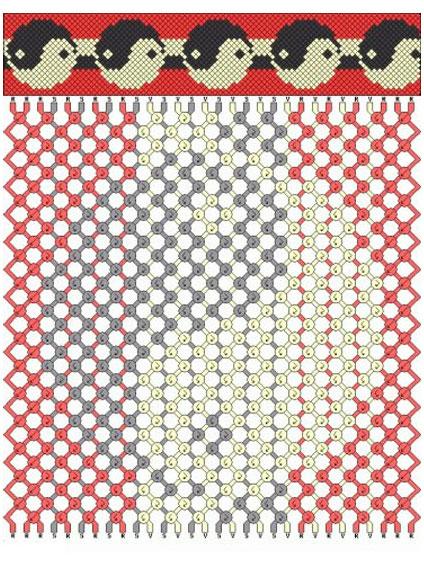 Схема плетения ниток мулине 9, фото