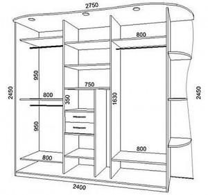 Схемы шкафа купе, фото
