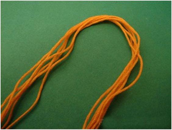 Способ плетения из мулине, фото