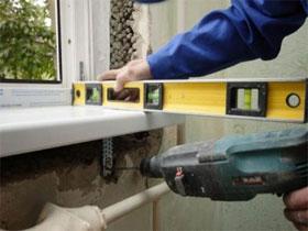 Технология установки пластикового подоконника, фото