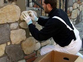 Укладка декоративного камня своими руками, фото