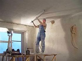 Выравнивание потолка своими руками, фото